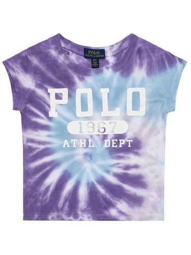 Polo Ralph Lauren T-Shirt Tie Dye Tee 312803031002 Fioletowy Slim Fit