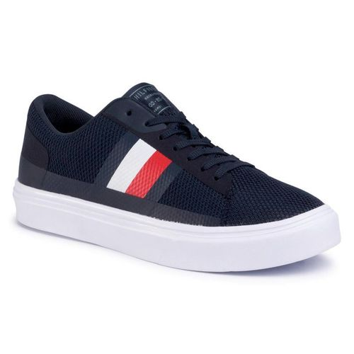 Sneakersy TOMMY HILFIGER - Lightweight Stripes Knit FM0FM02689 Desert Sky DW5