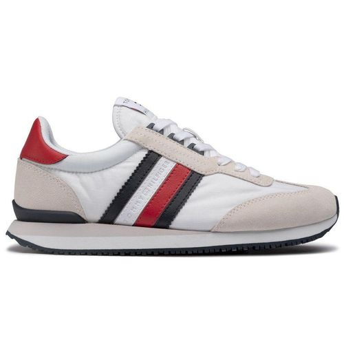 Sneakersy TOMMY HILFIGER - Low Mix Runner Stripe FM0FM02845 Primary Red XLG