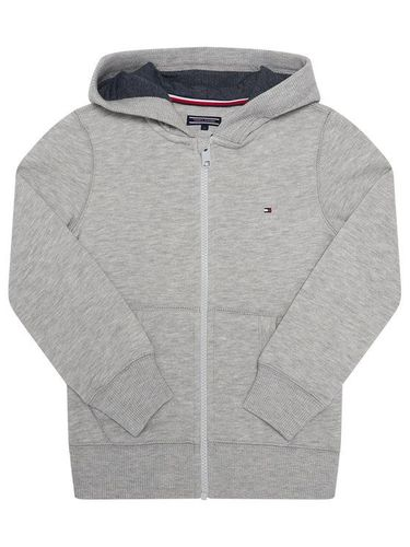 Tommy Hilfiger Bluza Boys Basic Zip Hoodi KB0KB04138 S Szary Regular Fit