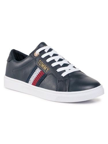 Tommy Hilfiger Sneakersy Lace Up Sneaker FW0FW05223 Granatowy