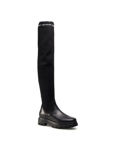 Tommy Jeans Muszkieterki Over The Knee Boot EN0EN01086 Czarny