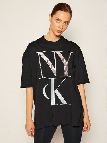 Calvin Klein Jeans T-Shirt NYC Logo J20J214436 Czarny Regular Fit