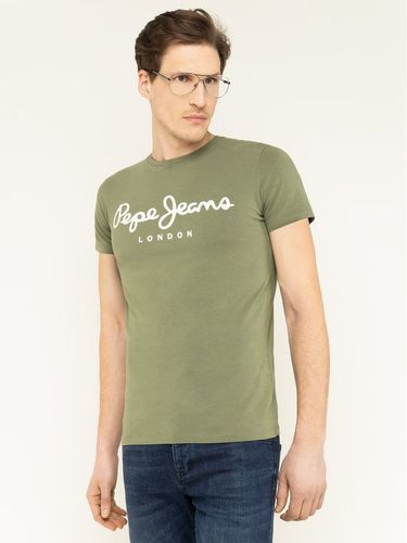 Pepe Jeans T-Shirt Original Stretch PM501594 Zielony Slim Fit