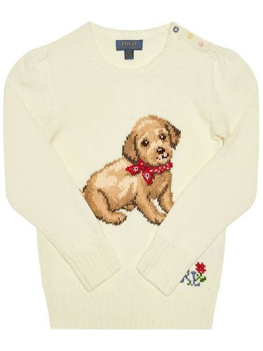 Polo Ralph Lauren Sweter Dog 311787279001 Biały Regular Fit