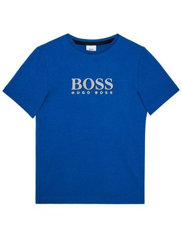 Boss T-Shirt J25G24 S Niebieski Regular Fit