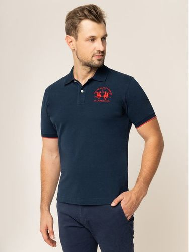 La Martina Polo CCMP01 PK001 Granatowy Regular Fit