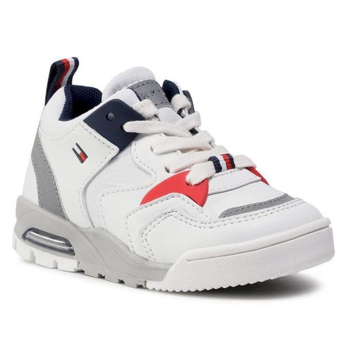 Sneakersy TOMMY HILFIGER - Low Cut Lace-Up Sneaker T1B4-30910-0208 M White/Blue X008