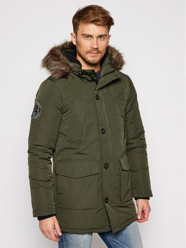 Superdry Kurtka zimowa Everest M5010204A Zielony Regular Fit