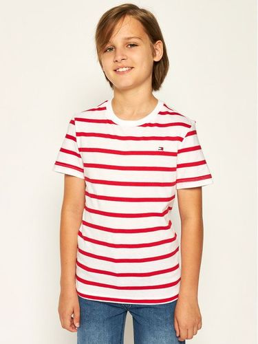 Tommy Hilfiger T-Shirt Nautical Stripe KB0KB05685 D Biały Regular Fit