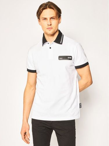 Versace Jeans Couture Polo B3GVB7P5 Biały Regular Fit