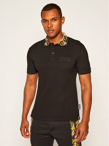 Versace Jeans Couture Polo B3GZA74T Czarny Slim Fit