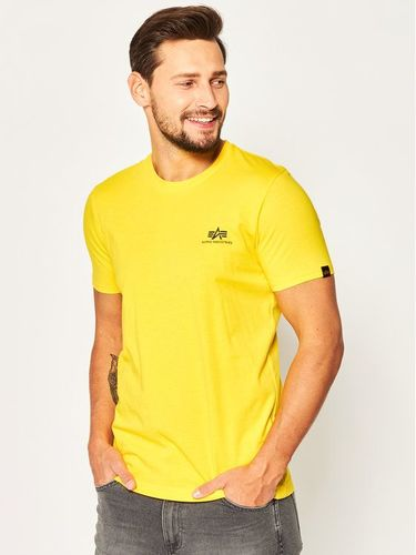 Alpha Industries T-Shirt Basic T Small Logo 188505 Żółty Regular Fit