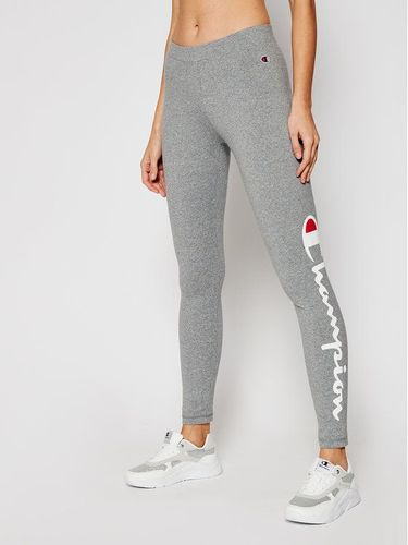 Champion Legginsy Large Script Logo 112857 Szary Athletic Fit