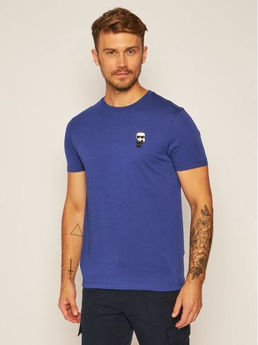 KARL LAGERFELD T-Shirt Crewneck 755055 Granatowy Regular Fit