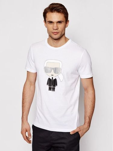 KARL LAGERFELD T-Shirt Crewneck 755061 511251 Biały Regular Fit