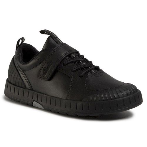 Sneakersy CLARKS - Apollo Step K 261470467 Black Leather