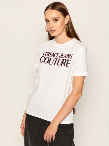 Versace Jeans Couture T-Shirt B2HZA7KF Biały Slim Fit