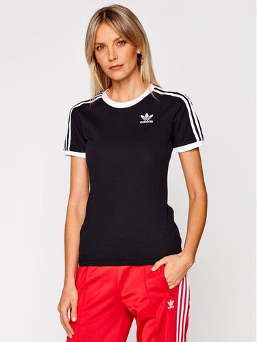 adidas T-Shirt 3 Stripes Tee GN2900 Czarny Regular Fit