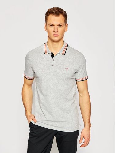 Guess Polo M1RP66 J1311 Szary Extra Slim Fit