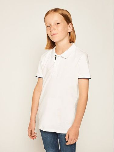 Pepe Jeans Polo Thor Jr PB540349 Biały Regular Fit