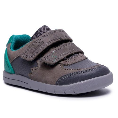 Sneakersy CLARKS - Rex Quest T 261516117 Dark Grey Leather