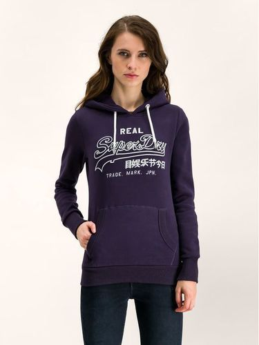 Superdry Bluza Logo Emb Outline Entry W2000054A Granatowy Regular Fit