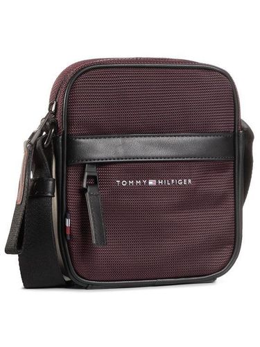Tommy Hilfiger Saszetka Elevated Nylon Mini Reporter AM0AM06472 Fioletowy