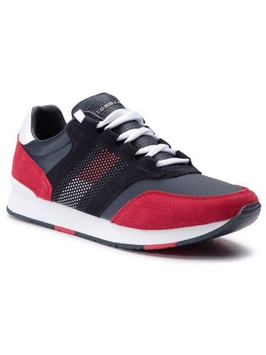 Tommy Hilfiger Sneakersy Corporate Material Mix Runner FM0FM02056 Szary