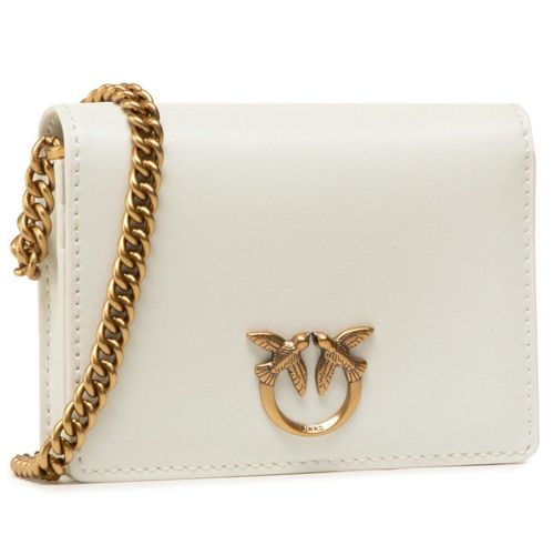 Torebka PINKO - Jolie Credit Card Holder Simply 2 PE 21 PLTT 1P225S Y6XT White Z14