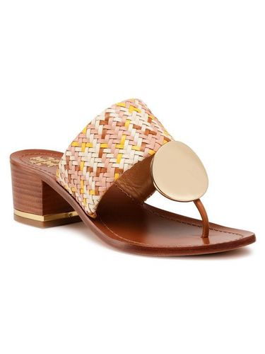 Tory Burch Japonki Patos Disk 45mm Sandal 74005 Beżowy