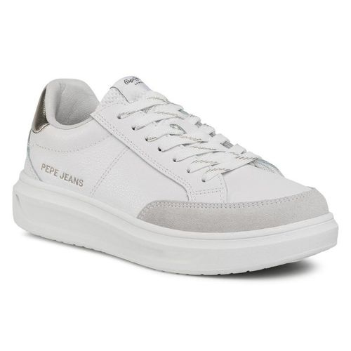 Sneakersy PEPE JEANS - Abbey Top PLS31052 Factory White 801