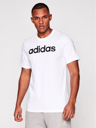 adidas T-Shirt Essentials Linear Logo DQ3056 Biały Standart Fit