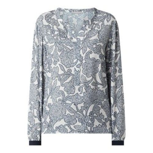 Betty & Co Grey bluzka damska casual z dekoltem w serek