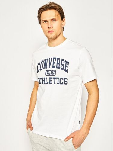 Converse T-Shirt Varsity Wordmark Tee 10019071-A02 Biały Regular Fit