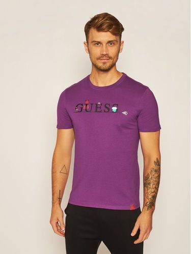 Guess T-Shirt Monster M0YI48 I3Z00 Fioletowy Slim Fit
