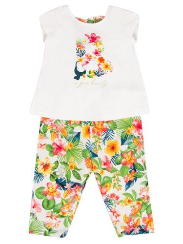 Mayoral Komplet t-shirt i legginsy 1748 Kolorowy Regular Fit