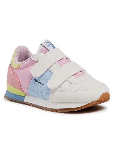 Pepe Jeans Sneakersy Sydney Basic Girl PGS30501 Biały