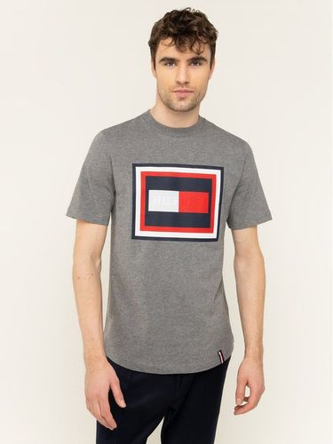 Tommy Hilfiger T-Shirt Hilfiger Frame MW0MW12523 Szary Relaxed Fit