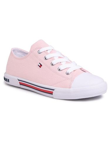 Tommy Hilfiger Trampki Low Cut Lace-Up Sneaker T3A4-30605-0890 S Różowy