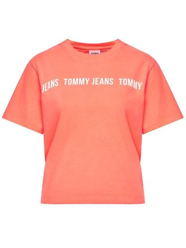 Tommy Jeans T-Shirt Tjw Tape DW0DW10147 Różowy Relaxed Fit