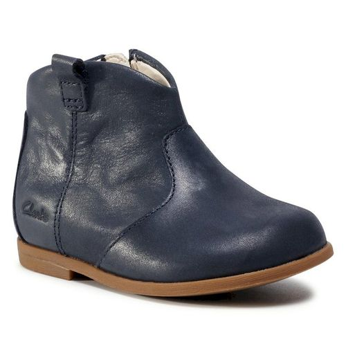 Trzewiki CLARKS - Drew Dawn T 261537006 Navy Leather