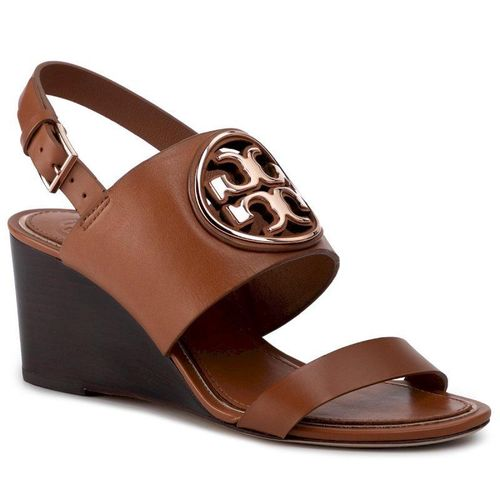 Sandały TORY BURCH - Metal Miller 65Mm Wedge 56115 Tan/Rose Gold 240