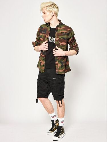 Superdry Koszula Core Military Patched M4010023A Zielony Regular Fit