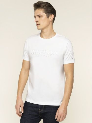 Tommy Hilfiger T-Shirt Double Layer YBR MW0MW12522 Biały Regular Fit