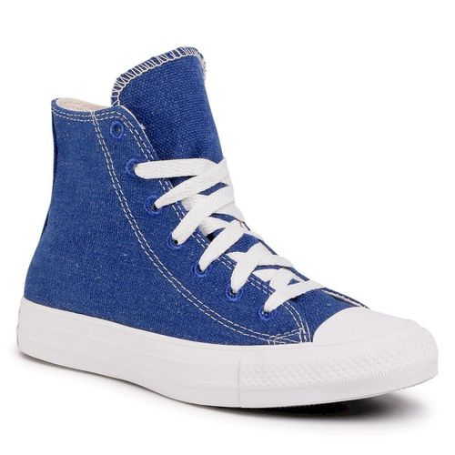 Trampki CONVERSE - Ctas Hi 166741C Rush Blue/Natural/White