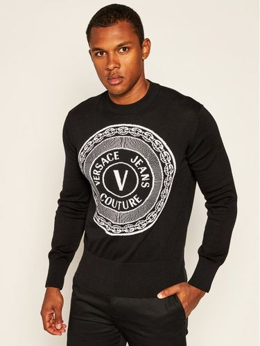 Versace Jeans Couture Sweter B5GZA813 Czarny Regular Fit