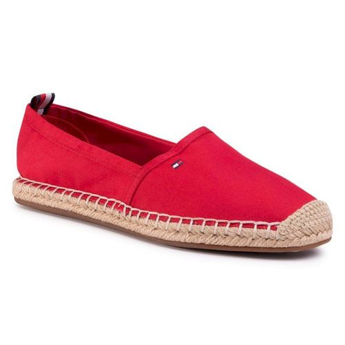 Espadryle TOMMY HILFIGER - Basic Tommy Flat Espadrille FW0FW04827 Primary Red XLG