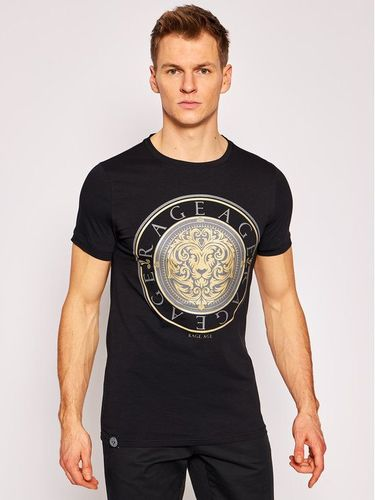 Rage Age T-Shirt Gold Lion Czarny Slim Fit