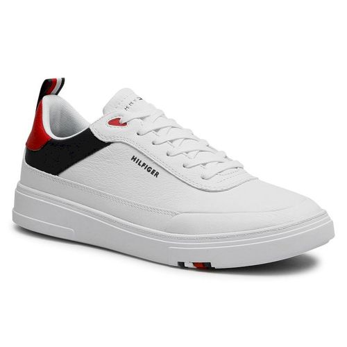 Sneakersy TOMMY HILFIGER - Modern Cupsole Leather FM0FM03427 Red White Blue 0GY